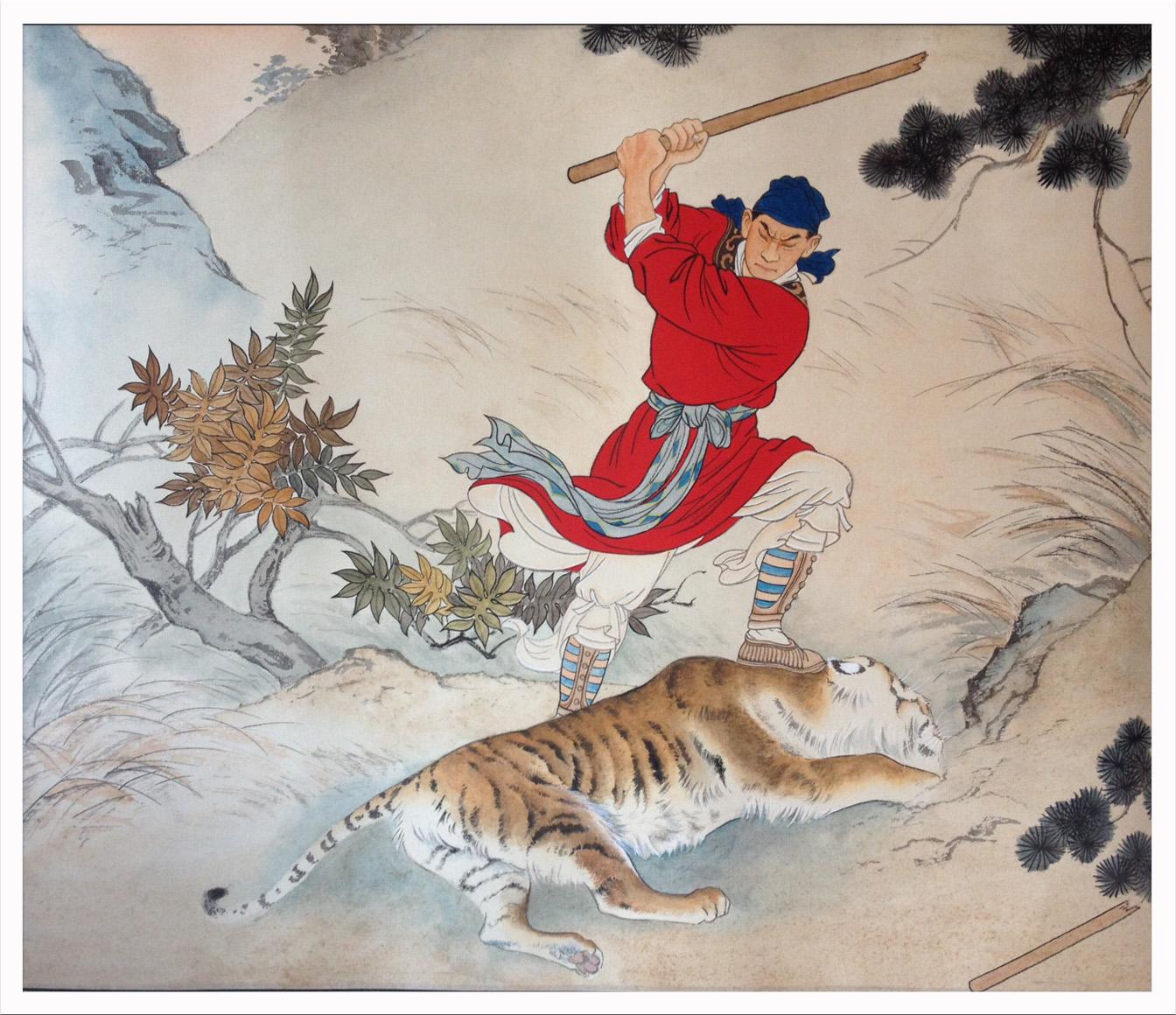 武松彩铅手绘